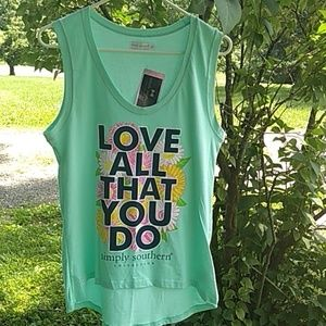 NWT Simply southern seafoam green love all do